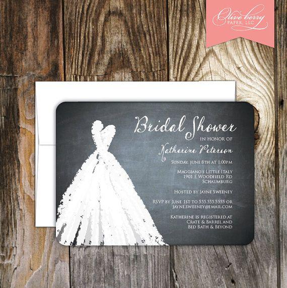 Sweetheart Chalkboard Bridal Shower Invitations On Etsy 17 50