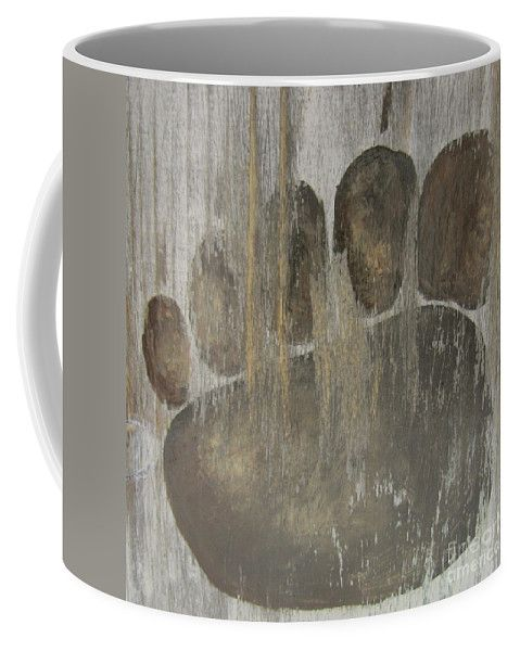 Rustic Bear Paw Coffee Mug by Lyssjart Sj.  Small (11 oz.)
