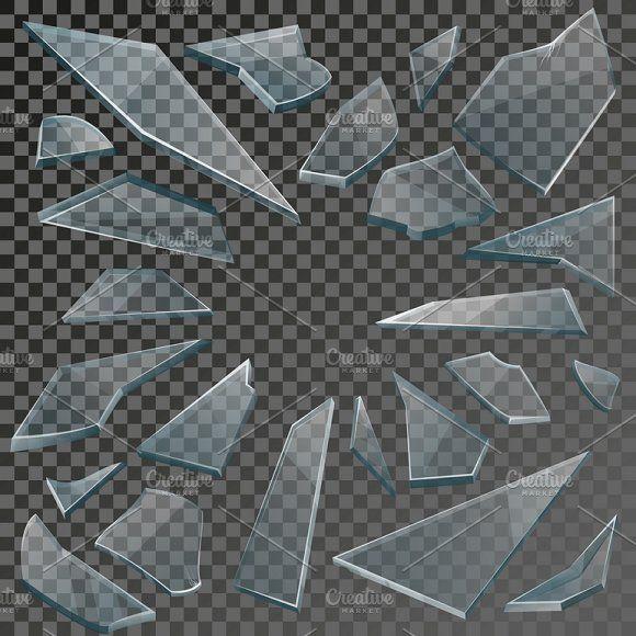 Realistic Shards Of Broken Glass Broken Glass Art Broken Glass Wallpaper Broken Glass
