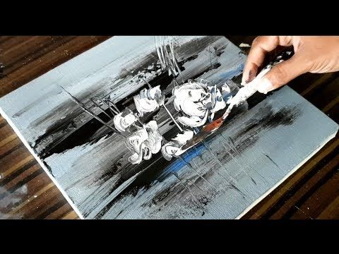 Making of Abstract Painting / Abstract Flowers / Acrylic & Spatula / Project 365 Days / Day # 0144 – YouTube