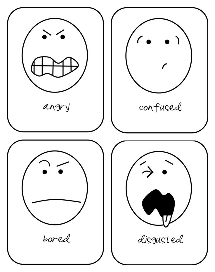 emotion flash cards (printable) for toddlers