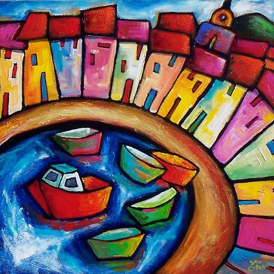 Collioure Lesson- FRANCE by artist SARA  CATENA
