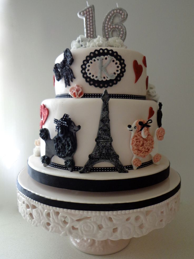 Images Of Cake For Niece : Parisian-inspired 16th birthday cake for great niece. My ...
