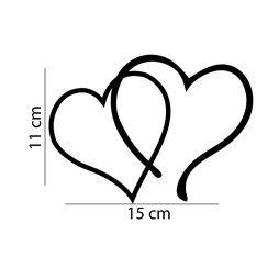 Kärlek hjärtan Väggdekor dekal vinyl 11 x 15 CM