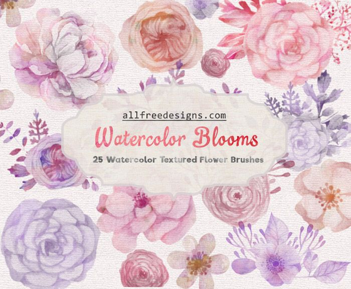 Watercolor Floral Brushes 25 Images For Spring And Summer Designs