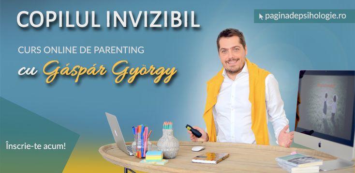 """Psihologul Gáspár György lansează în premieră un curs online de parenting după o metodă revoluționară, pornind de la bestseller-ul său """"Copilul invizibil"""""""