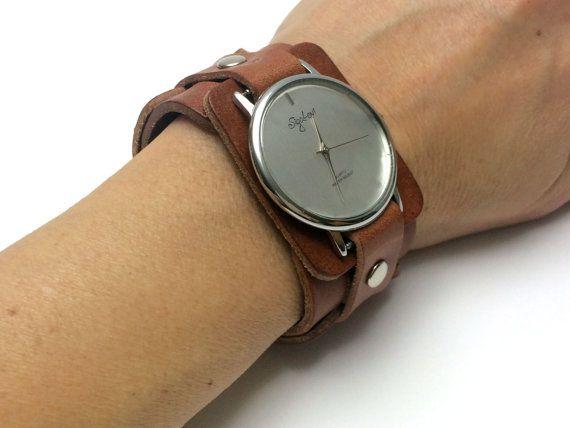 Woman Watch In Linked Chain Strap-Women Watches-Leather Cuff Watch-Womens Watch-Cuff Watches-Tattoo Cover-Wide Wrist Watch-Watch-Sigal Watch