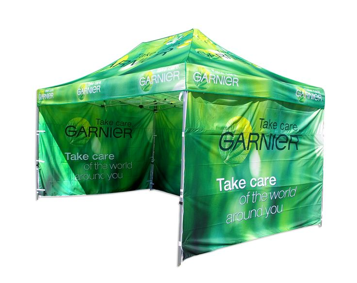 This stunning branded marquee by Star Outdoor displays the impact of a fully branded marquee. The colour vibrancy is sure to turn heads at Garnier's events. Call Star Outdoor on 1300 721 877 to organise one for your business or visit their website at www.staroutdoor.com.au