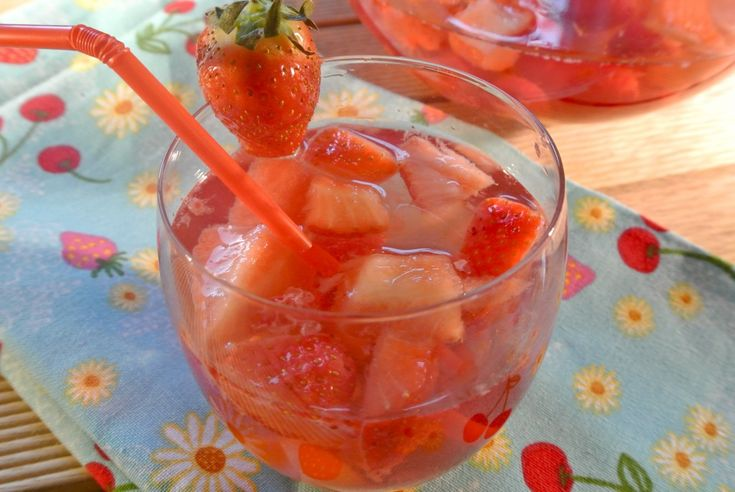 Wonderful summer drink with fresh fruit
