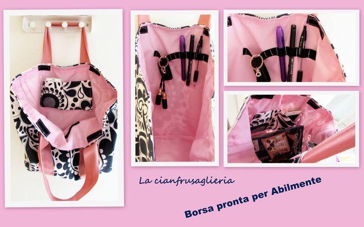 Ordine anche il borsa..http://lacianfrusaglieria.blogspot.it/2014/10/diy-borsa-grande-per-fiere-creativemi.html