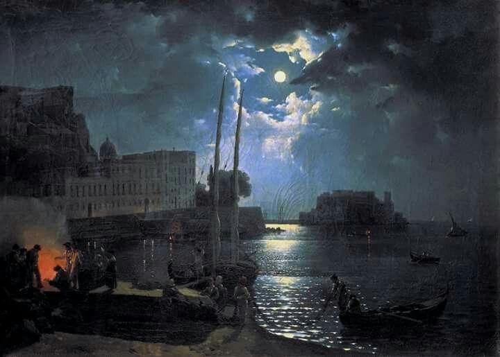 Moonlit Night in Naples by Sylvester Feodosiyevich Shchedrin ( 1791-1830)