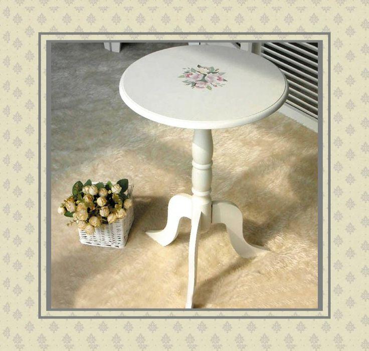 Современный минималистский телефон стол маленький круглые столы ручной росписью древесины журнальный столик пастырской стороны нескольких ев ...