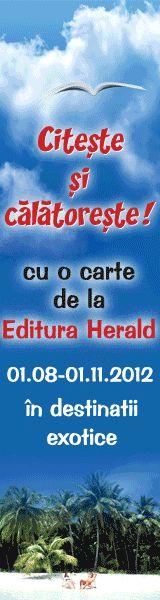 """Concursul """"Librarul Iscusit"""" este un proiect cultural cu acoperire naţională iniţiat de Editura Herald si este singurul concurs de pe piata de carte din Romania care sustine si stimuleaza activitatea librarului. Aflat la cea de-a V-a editie, Concursul face parte din campania """"Te asteptam in librarie!"""" si se adreseaza tuturor Librarilor din librariile partenere.  http://www.libraruliscusit.ro/"""