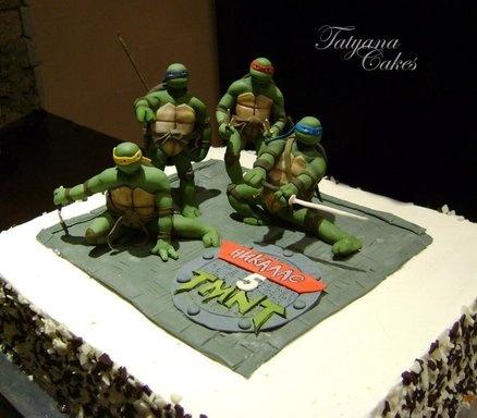 ninja turtles cake – Recherche Google   – ninja turtle cakes