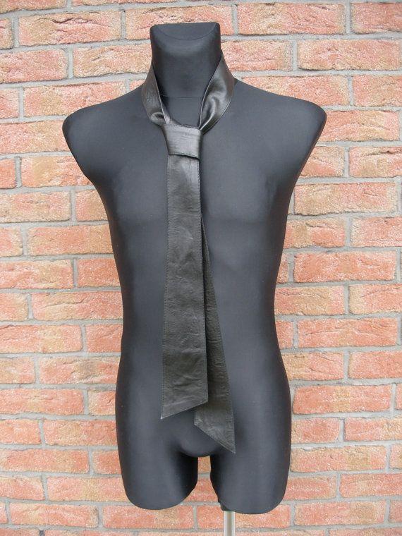 cuero negro cuello tie-obi cinturón cuero cuello tie-abrigo escudo del cinturón del vestido de la correa cuero correa negro lazo faja cuero cinturón abrigo obi cinturón