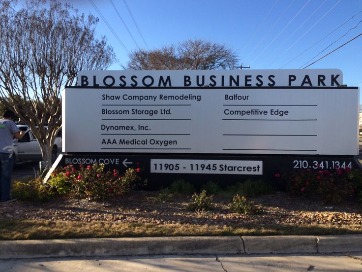 Non Illuminated Monument Sign for Blossom Business Park in San Antonio     CNDSigns11 best New Signs 2015 images on Pinterest   San antonio  . Shaw Company Remodeling San Antonio. Home Design Ideas