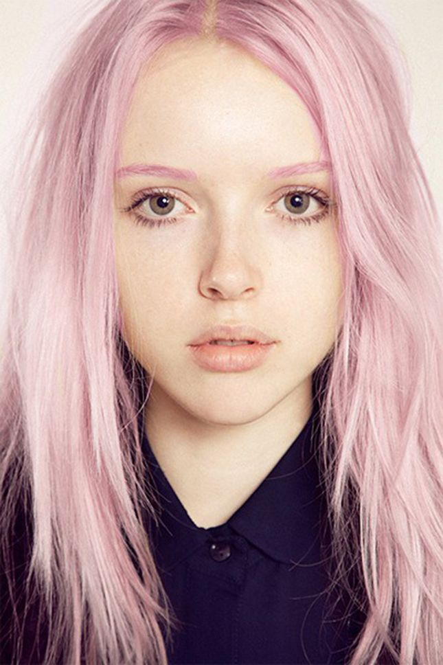 Take your dye job to the next level with pink eyebrows.