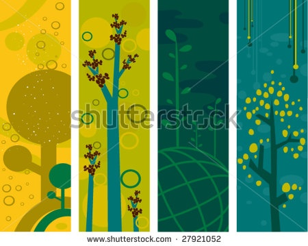 Nature Vertical Banners - Vector