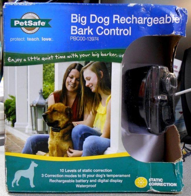 PetSafe PBC00-13974 Big Dog Bark Control Collar Stop Barking Rechargeable 40 lb+ #PetSafe