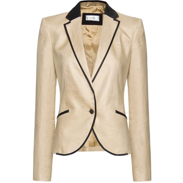 MANGO Linen blazer ($50) found on Polyvore