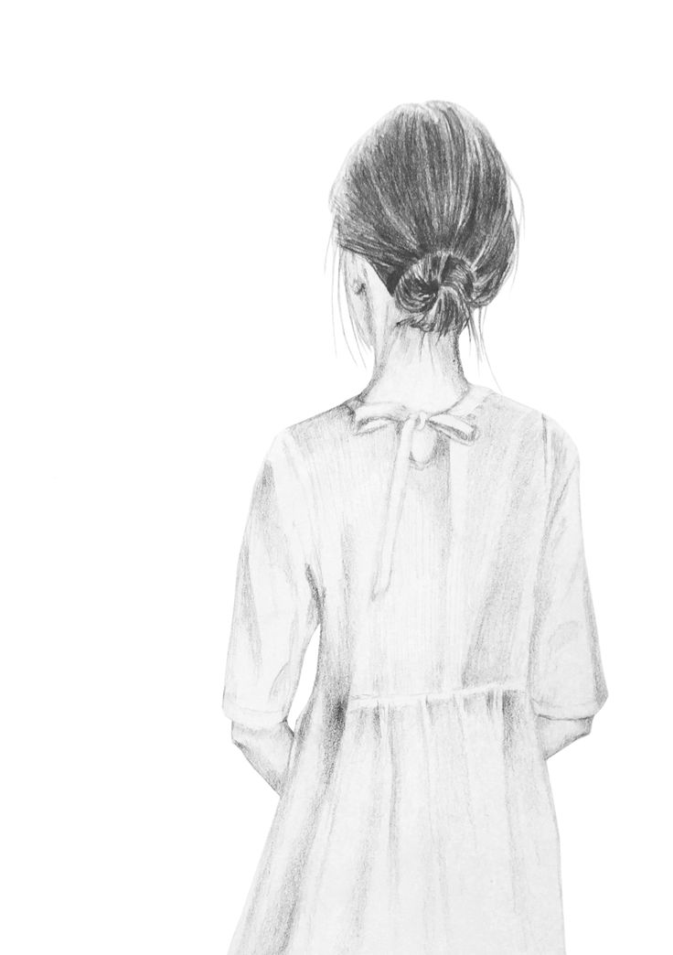 Don`t look back, pencil drawing/ Anna Tuomela, Papurino