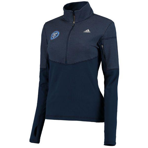 New York City FC adidas Women's Logo Driven 2.5 Half-Zip Pullover Jacket - Navy - $69.99