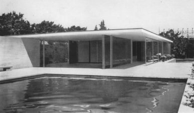 Ludwig Mies van der Rohe (architect) / Berliner Bildbericht (Photo), Barcelona Pavilion, 1929  Bauhaus Dessau Foundation
