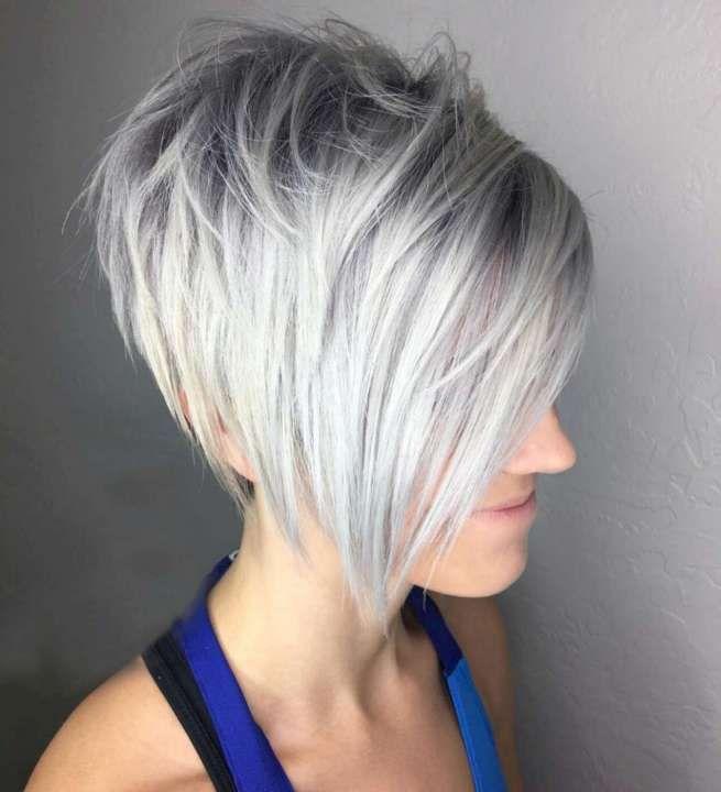Frisuren Graue Haare Mit Strahnchen Frisurentrends Frisuren Haarschnitte Haarschnitt Bob Frisur