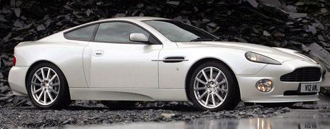 Aston Martin V12 Vanquish S white side view