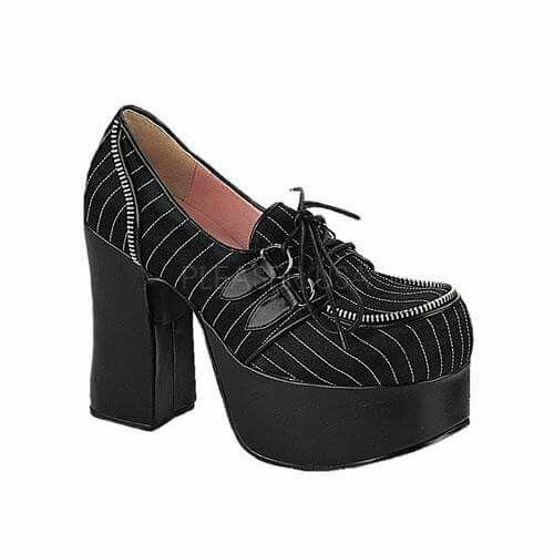 Zapatos negros Industrial punk para mujer vfrfMEZ