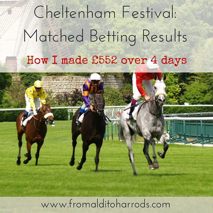 Cheltenham Festival- Matched Betting Results How I made £552 over 4 days
