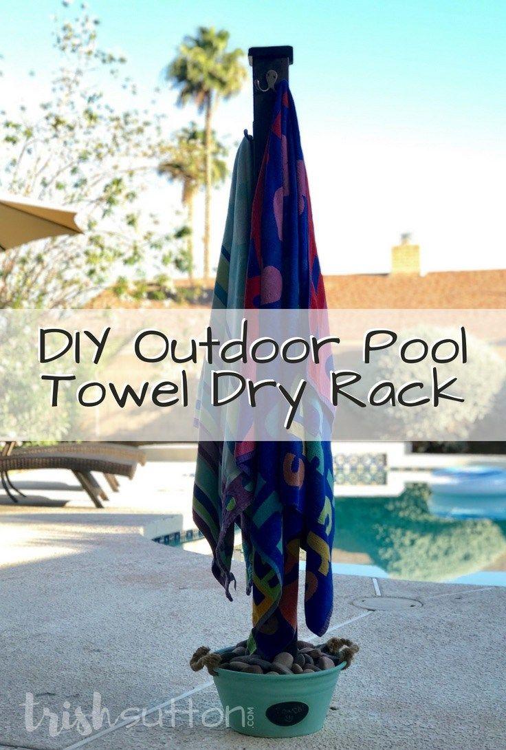 Diy Outdoor Pool Towel Dry Rack Beach Towel Holder Trishsutton Com Pool Towels Pool Towel Rack Diy Beach Towel Holder