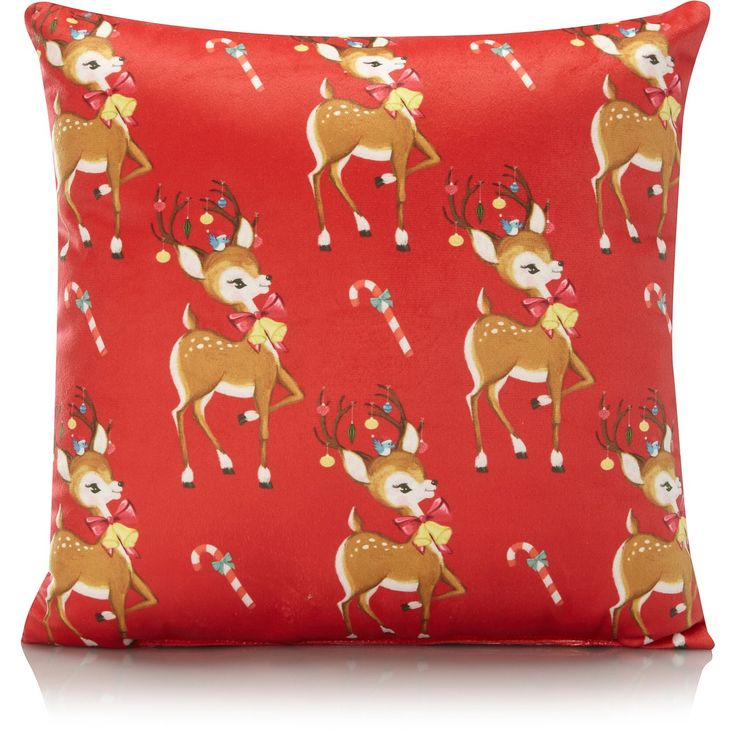 Buy Christmas Vintage Deer Small Cushion from our Cushions range today from George at ASDA.