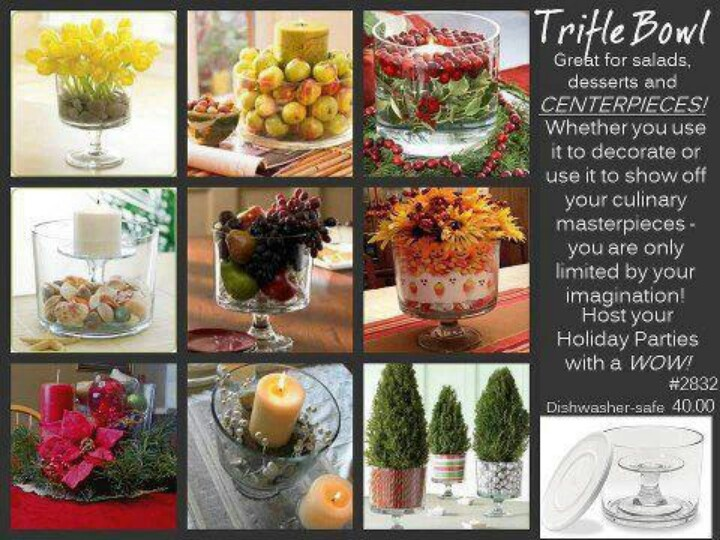 Trifle Bowl Decorations 19 Best Uses For Trifle Bowl Images On Pinterest  Centerpiece