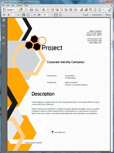 The Corporate Identity Creation Proposal Is One Of Many Sample Business  Proposals Included With Proposal Pack Proposal Templates And Proposal  Software ...