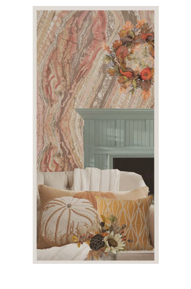Pumpkins for Halloween by perpetto on Polyvore featuring interior, interiors, interior design, dom, home decor, interior decorating, Anthropologie, Pottery Barn, RoomMates Decor and Allstate Floral