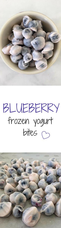 Blueberry Frozen Yogurt Bites   Live Lean Eat Green