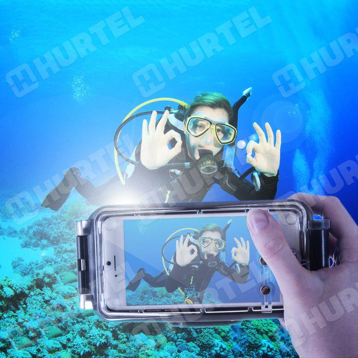 Wodoodporny pokrowiec do nurkowania na iPhone 6S 6 IPx8 czarny