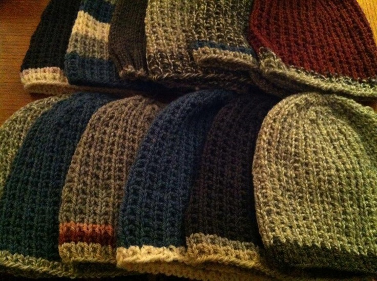Afghan Hat Knitting Pattern : 1000+ images about Soldier man hats to knit on Pinterest
