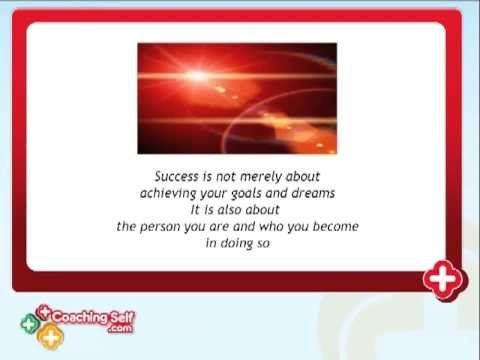 This CoachingSelf.com video on Success Coaching talks about success, dreams and goals, the obstacles to success and how CoachingSelf.com self coaching can support you with everything in one place to find your success.