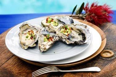 Oysters, crispy bacon, avocado and champagne vinegar recipe, Viva – visit Food Hub for New Zealand recipes using local ingredients – foodhub.co.nz