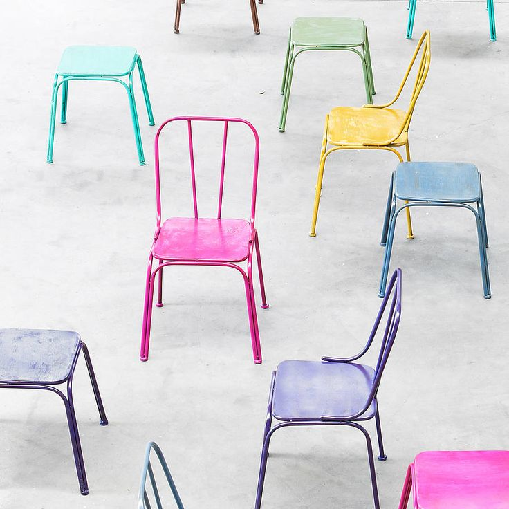 Downtown Industrial Metal Chairs (16 colours) by Idea Home Co