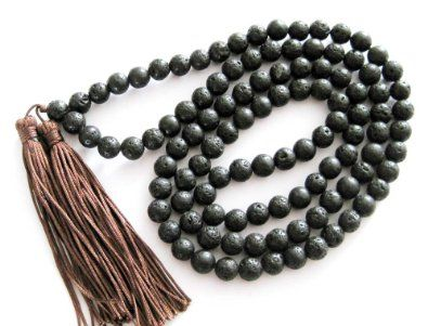 8mm 108 Volcano Stone Beads Buddhist Prayer Mala Necklace: Jewelry: Amazon.com