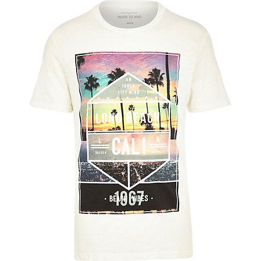 Ecru Long Beach Cali print t-shirt - print t-shirts - t-shirts / vests - men