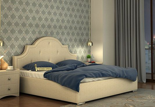 Bentle Hydraulic Upholstered Bed in King Size with Irish Cream is desirable bed with amazing combination of style and functionality. The #HydraulicBed with comfy touch of upholstery is gorgeous. Buy Hydraulic Storage Bed Online in #Gurgaon #NaviMumbai #Jaipur
