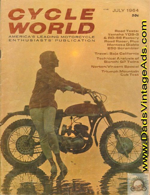 Cover: Montesa; 1964 Montesa 250 Diablo Road Test / Specifications / Photos; Also Road Test on Yamaha YDS-3 and RD-56; Travel: Upper Baja California; Tech Analysis: Bianchi Twins; Norton / Vincent - a very happy marriage; Ascot Opens; Trail Test: Triumph Mountain Cub; Manx Memories; AAMRR Vineland;
