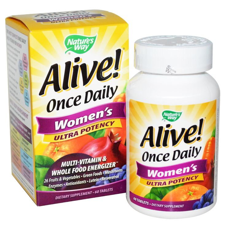Nature's Way, Alive! Once Daily Women's Multi-Vitamin , 60 Tablets
