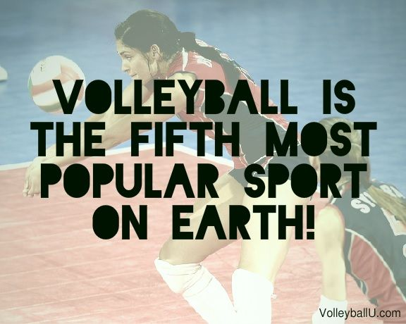 Did you know that volleyball is the world's 5th most popular sport?