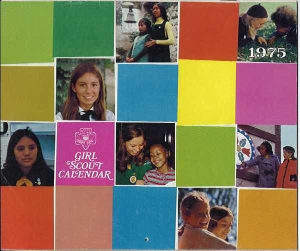 Girl Scout 1975 calendar: Girls Guide Scouts, Girls Generation, Girl Scouts, Scouts 1975, Guide Scouts Memorabilia, Girls Scouts, Scouts Calendar, Vintage Girls