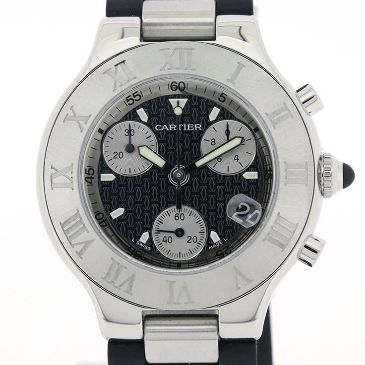 【商品名】カルティエ(Cartier) W1012502 クロノスカフ クロノ クオーツ SS ラバー メンズ 時計【価格】¥ 128,000【状態】B  傷・汚れが見受けられますが通常使用するには問題のない中古商品です。